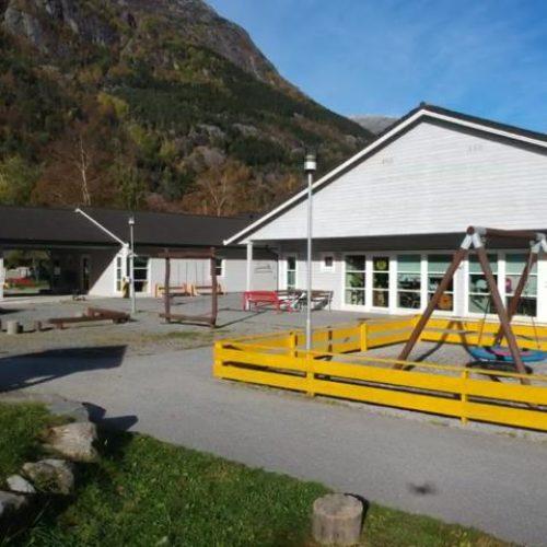 Oversiktsbilete av Rabben barnehage. Foto.