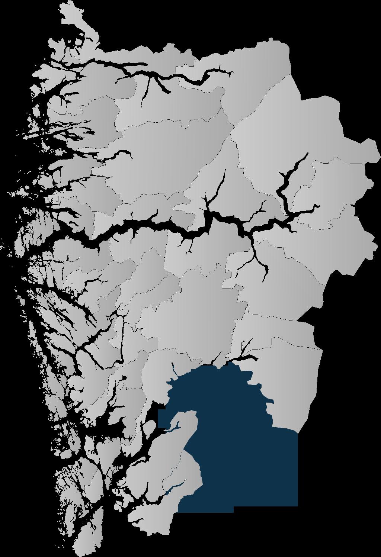 Kommunekart mørk blå